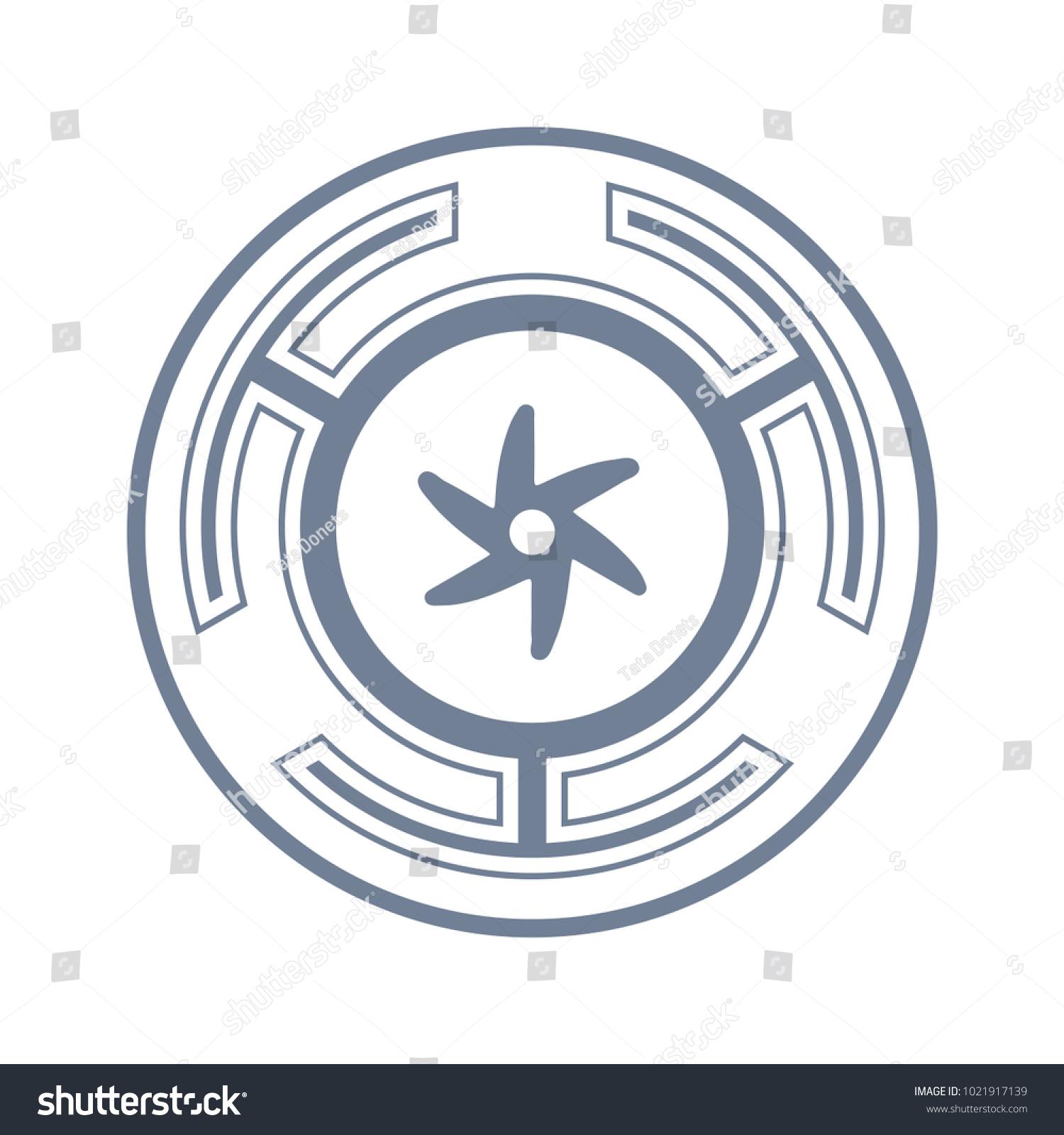 Vector Symbol Strophalos Hecates Wheel Ancient Stock Vector Royalty