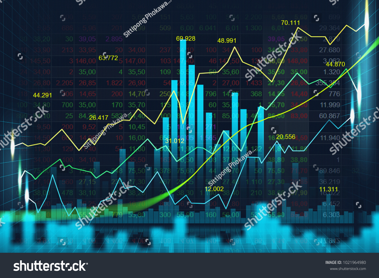 Stock Market Forex Trading Graph Graphic Stock Illustration ...
