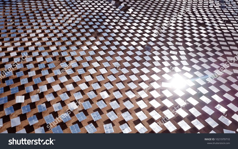 Solar Power Plant Mirrors That Focus Stock Photo Edit Now 1021979710