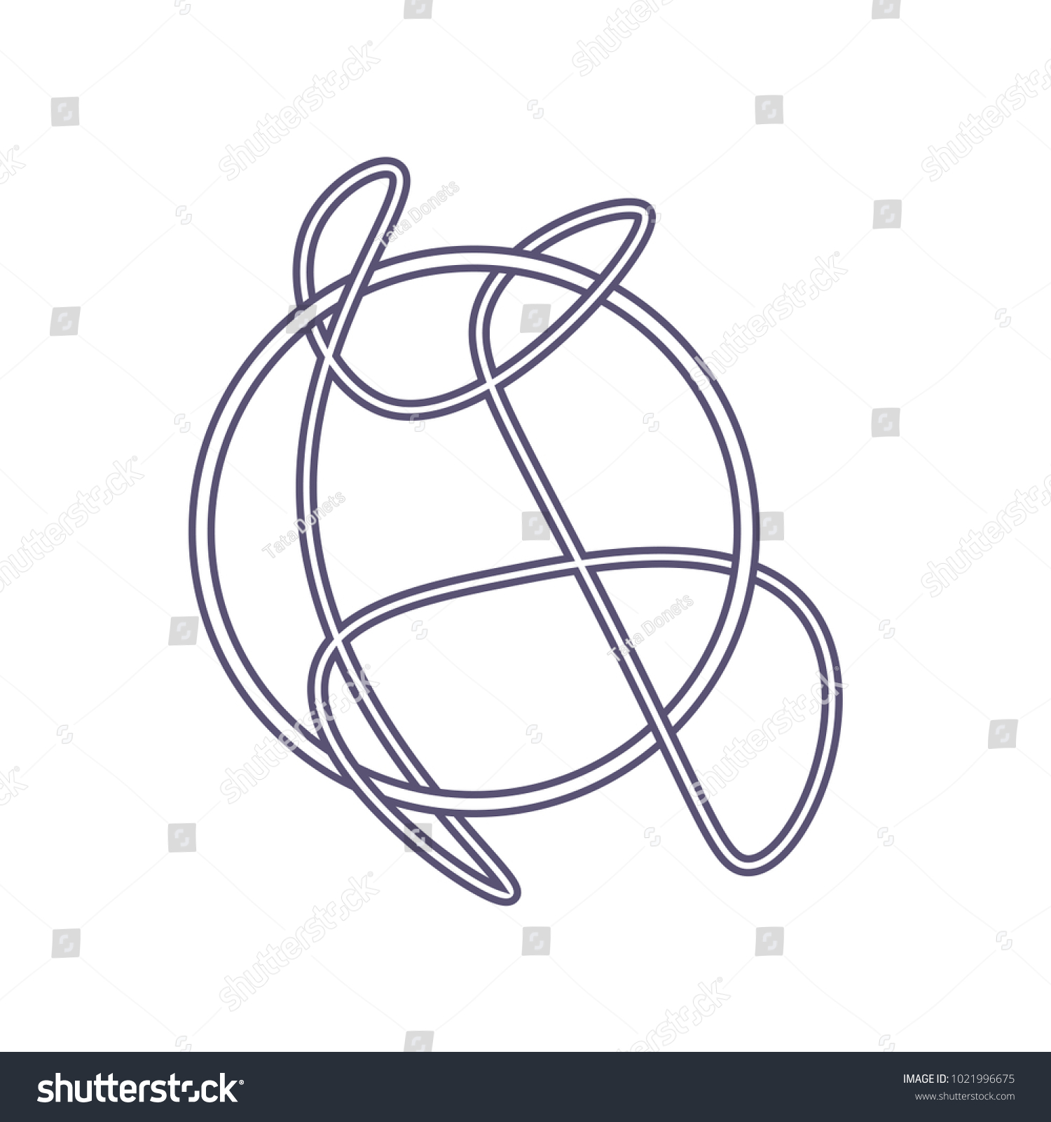 Vector Icon Wiccan Community Witches Knot Stock Vector Royalty Free