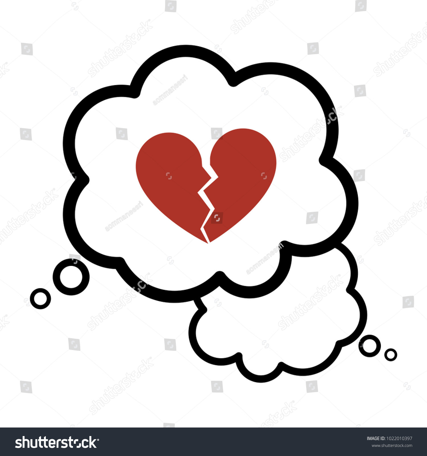 Broken heart thought bubble icon broken stock vector 1022010397 broken heart in a thought bubble icon broken heart in a dream bubble symbol icon biocorpaavc Choice Image