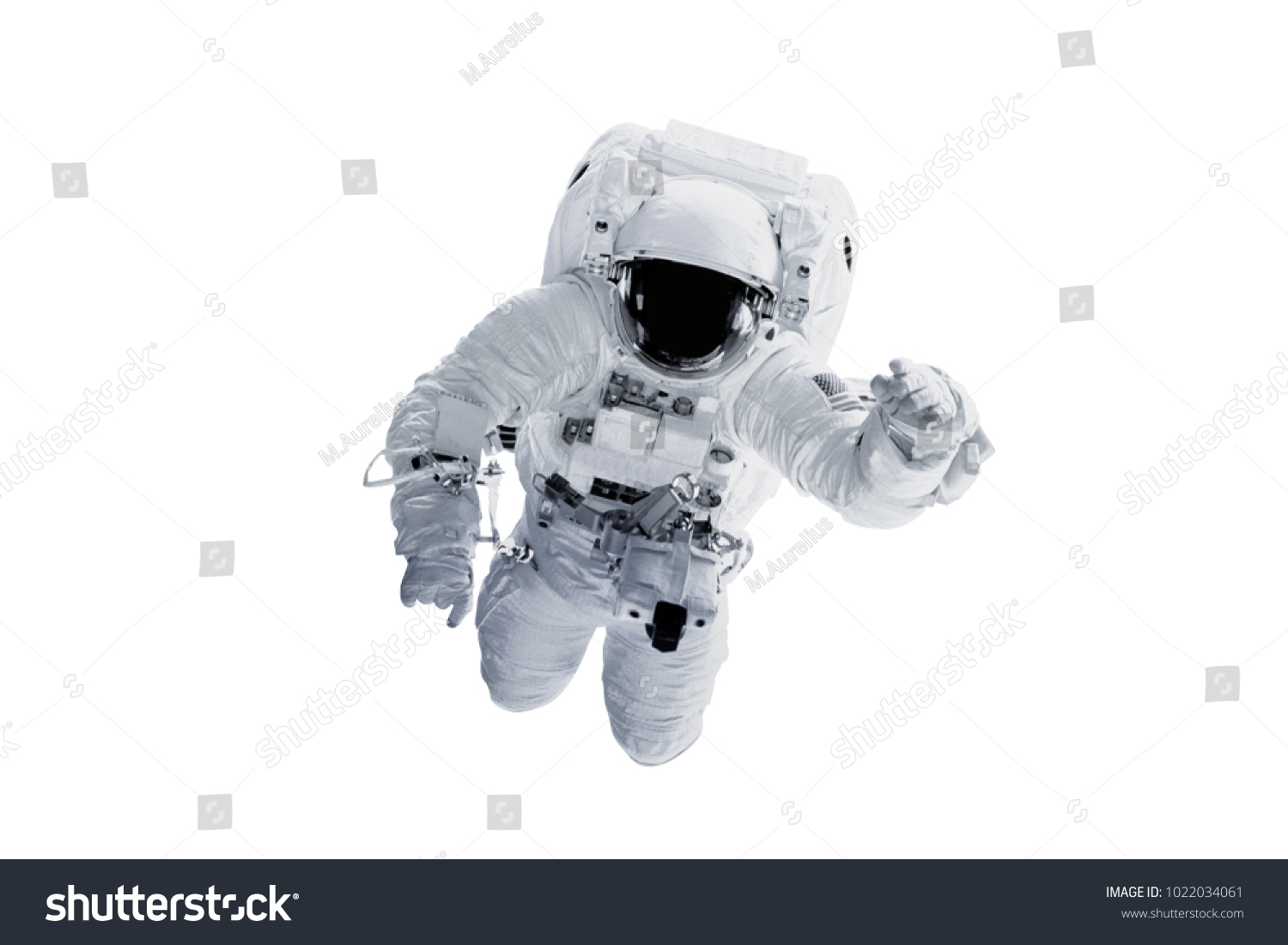Astronaut - Elements of this Image Furnished by NASA #1022034061