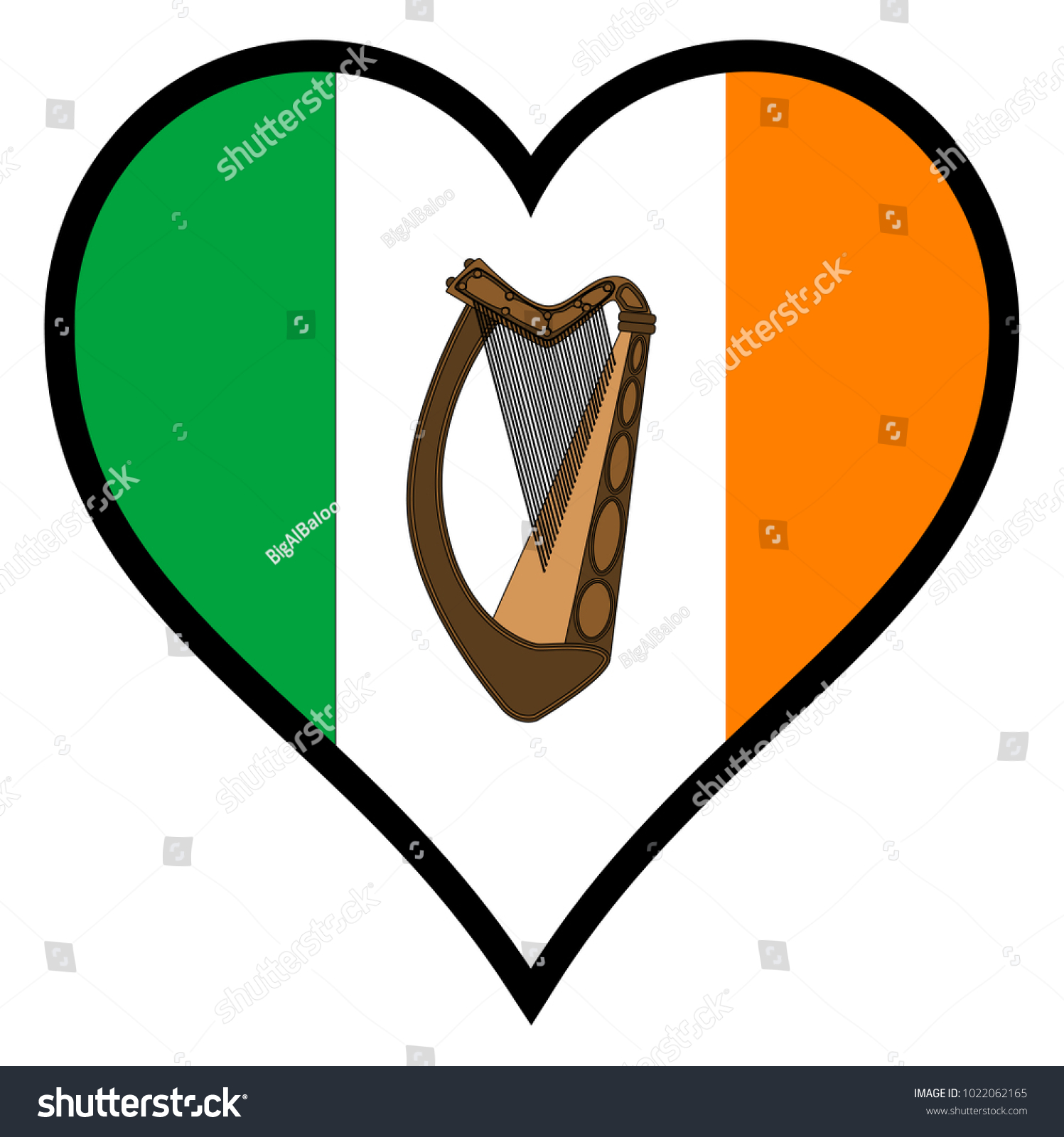 Irish flag within heart all over stock illustration 1022062165 irish flag within a heart all over a white background biocorpaavc Images