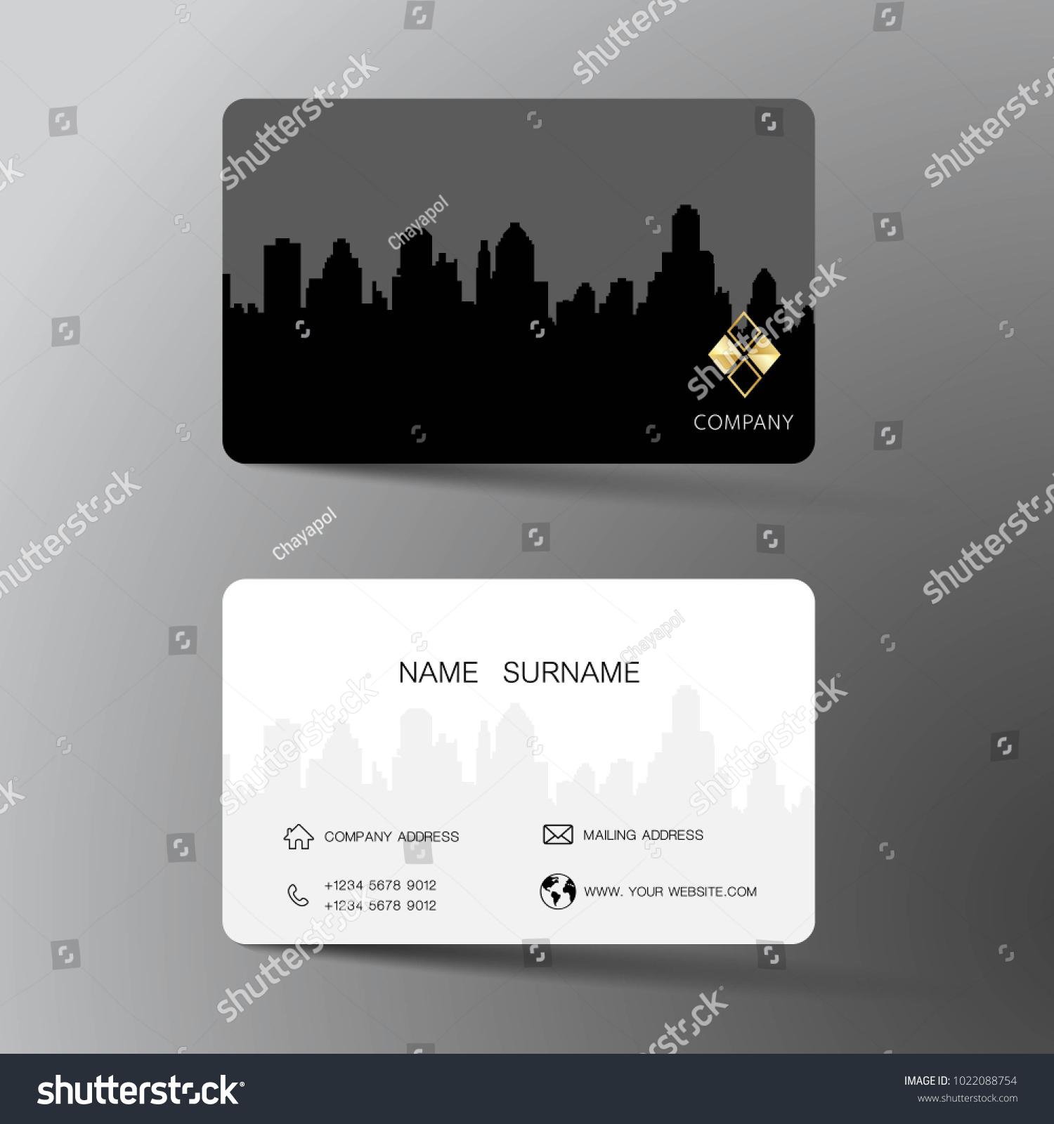 Business Card Design Inspiration Builging City Stock Photo (Photo ...