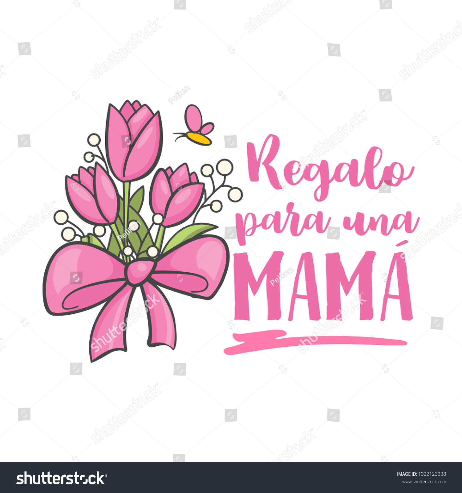 Gift Mom Spanish Mother Day Greeting Stock Vector Royalty Free