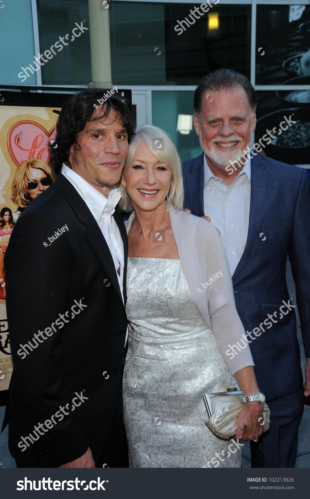 Sergio Peris Mencheta Helen Mirren And Taylor Hackford At The Love Ranch Los Angeles Premiere Arclight Cinemas Hollywood Ca  Ez Canvas