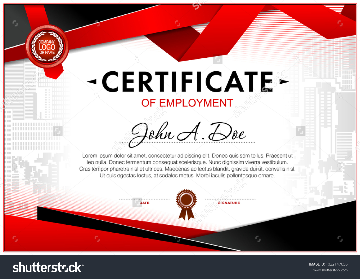 Certificate employment template geometrical simple shapes certificate employment template geometrical simple shapes 1022147056 shutterstock yelopaper Gallery