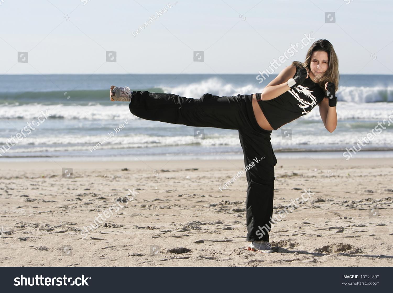 girl fighting in the beach stock photo 10221892 shutterstock