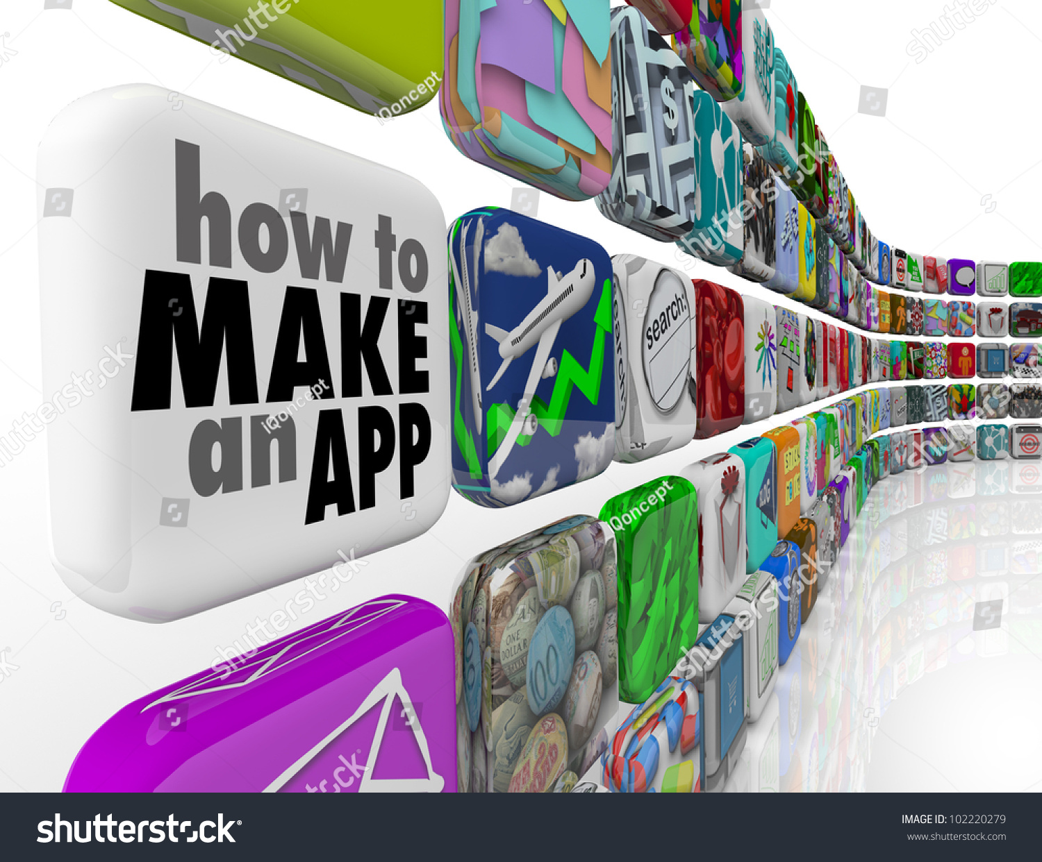 How To Make An App Message On A White Application Tile In A Wall Of  Downloadable
