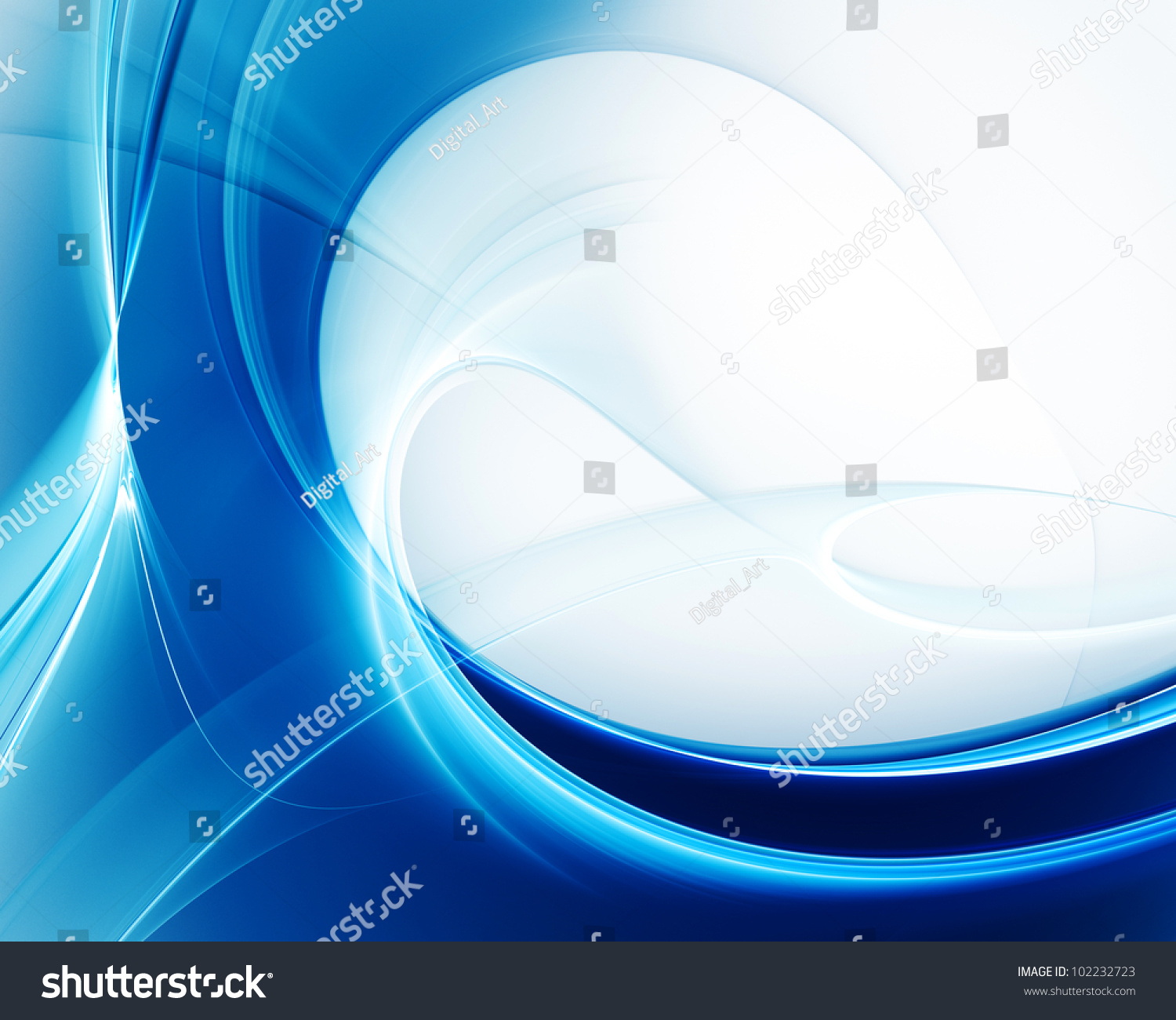 computer graphics abstract background design in blue and