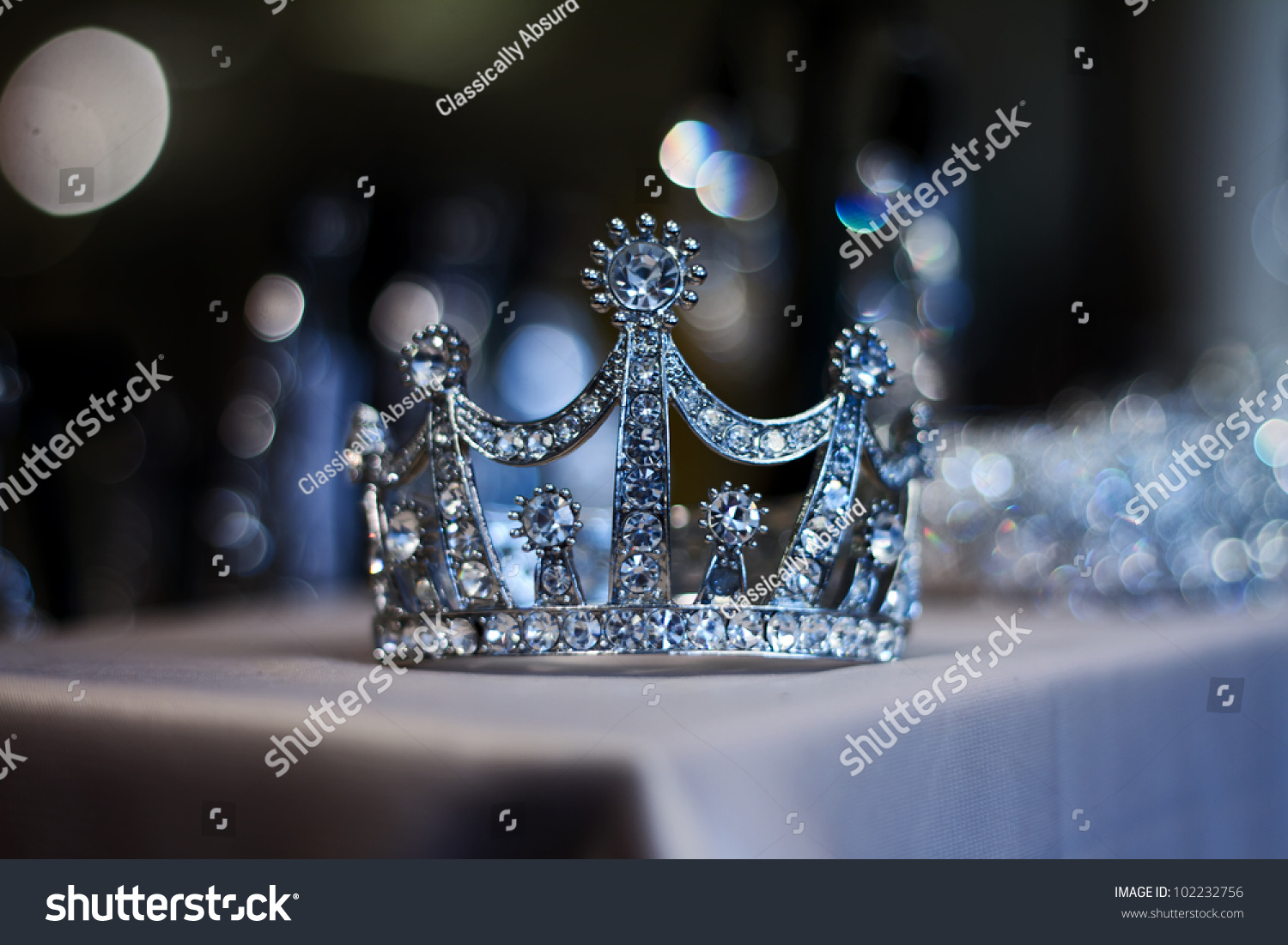 diamond tiara or crown for prom and wedding stock photo