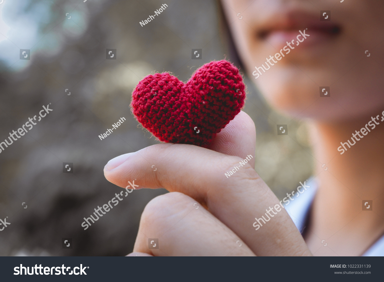 Heart Knit Hands Girl Stock Photo 1022331139 - Shutterstock