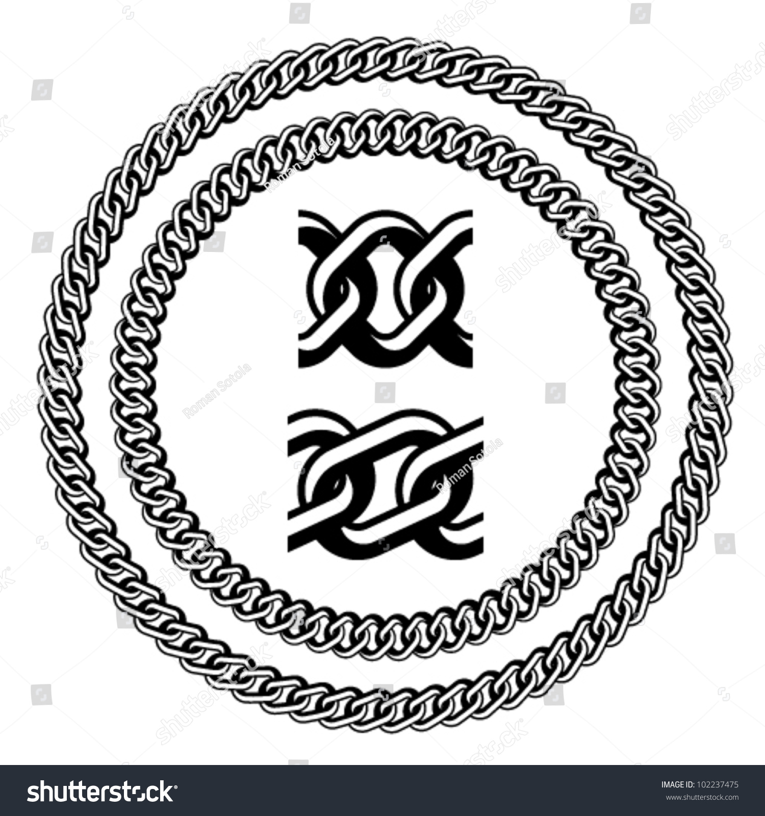 vector chain jewel seamless silhouettes stock vector royalty free