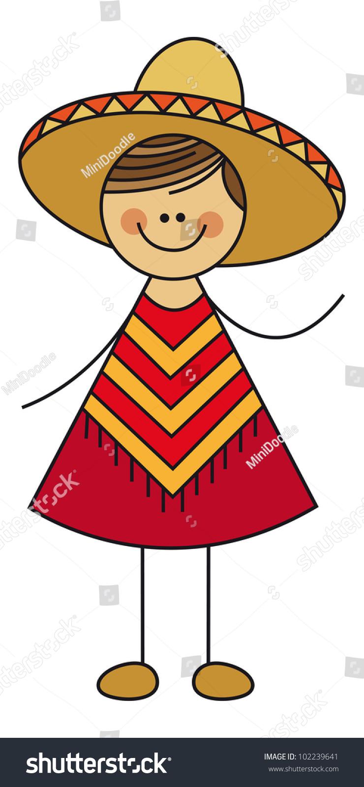 Mexican Man Stock Vector Illustration 102239641 : Shutterstock