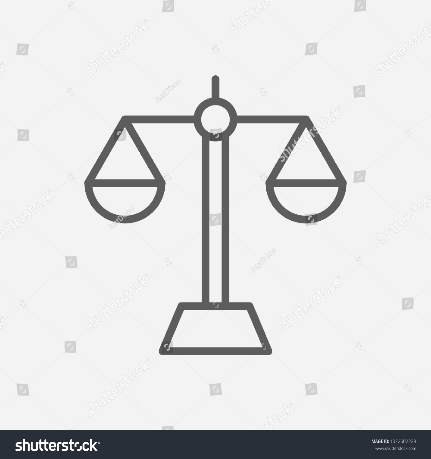 Balance icon line symbol isolated vector stock vector 1022502229 balance icon line symbol isolated vector illustration of icon sign concept for your web site buycottarizona Gallery