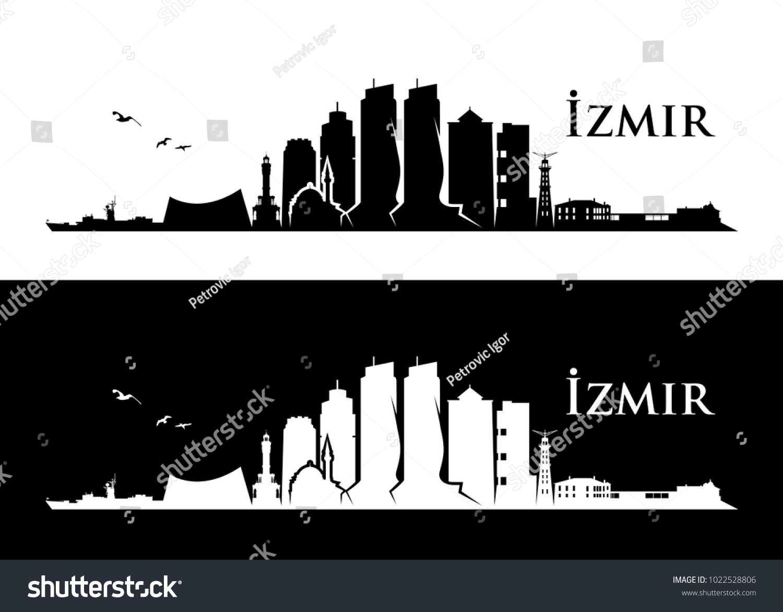 Izmir Skyline Turkey Vector Illustration Stock Vector Royalty Free 1022528806