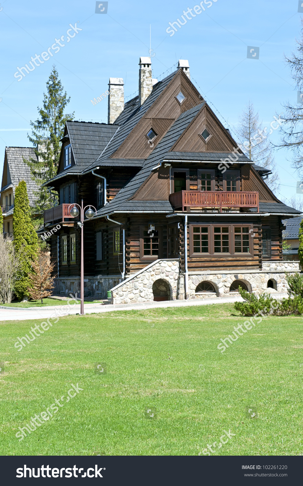 Traditional rustic wooden house in mountains poland stock photo 102261220 shutterstock - Traditional polish houses wood mastership ...