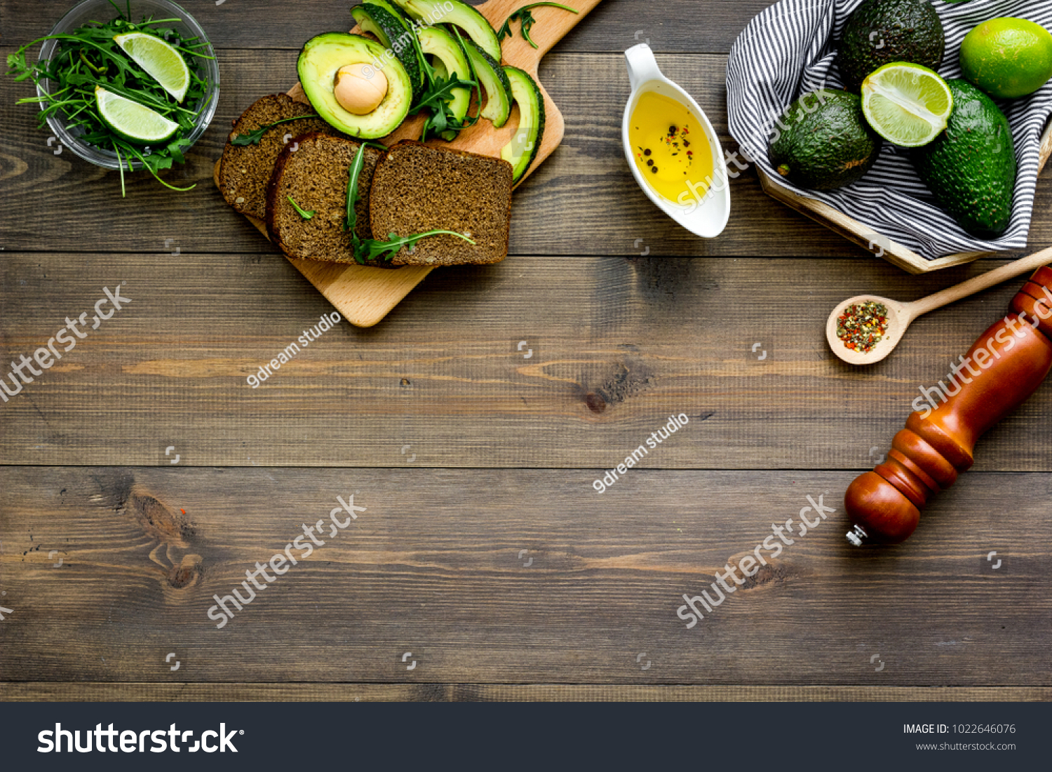 Breakfast Safety Weight Loss Avocado Toast Stock Photo (Edit