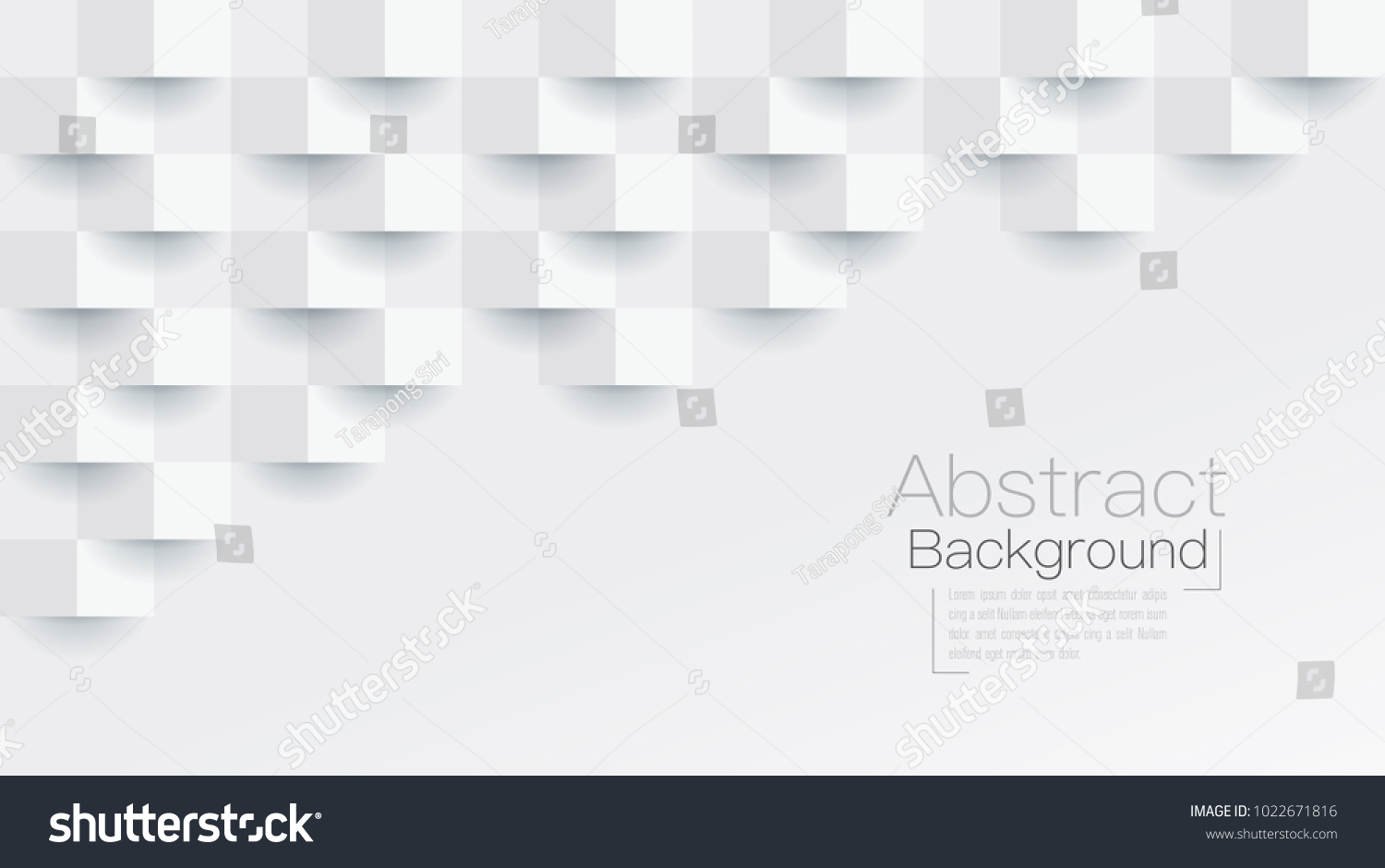 White abstract texture. Vector background 3d paper art style can be used in cover design, book design, poster, cd cover, flyer, website backgrounds or advertising. #1022671816