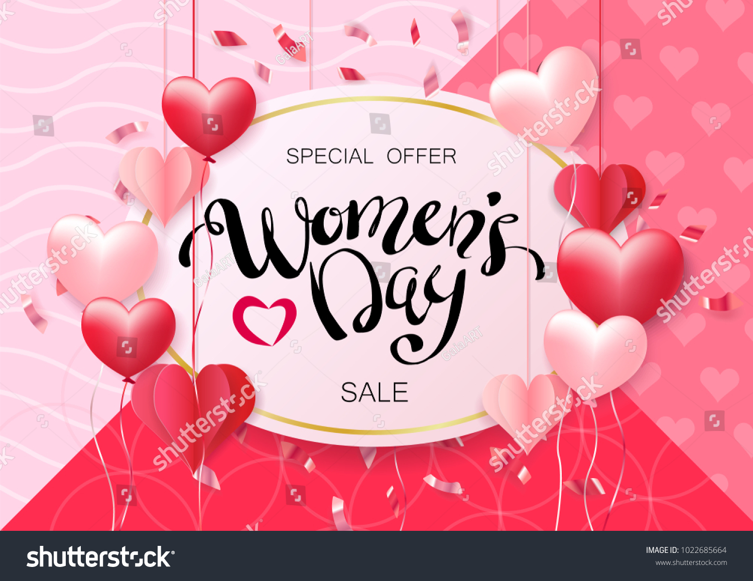 Womens day design greeting card can stock vector 1022685664 womens day design for greeting card can be used on banners or web 3d kristyandbryce Choice Image