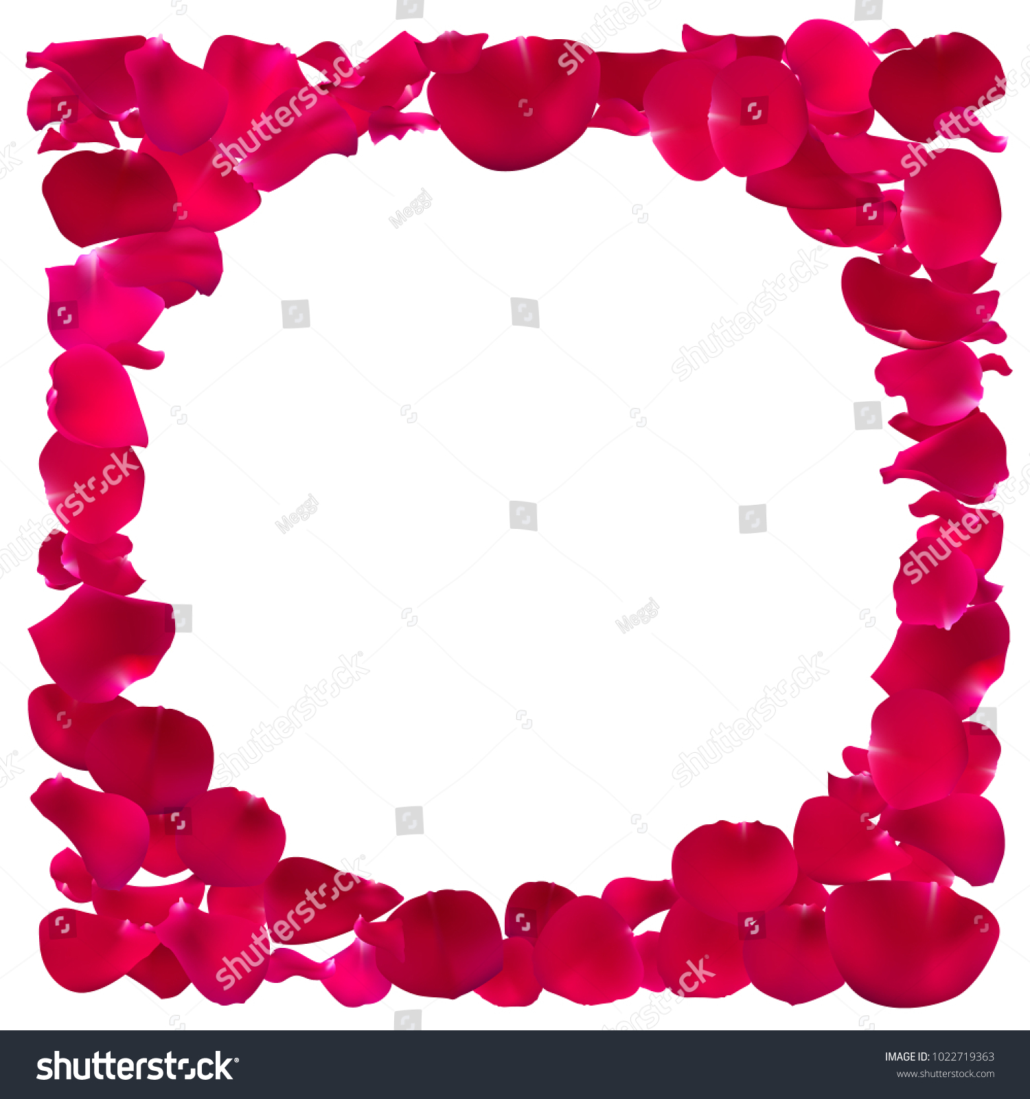 Invitation Template Rose Petals Pink Floral Stock Vector Royalty