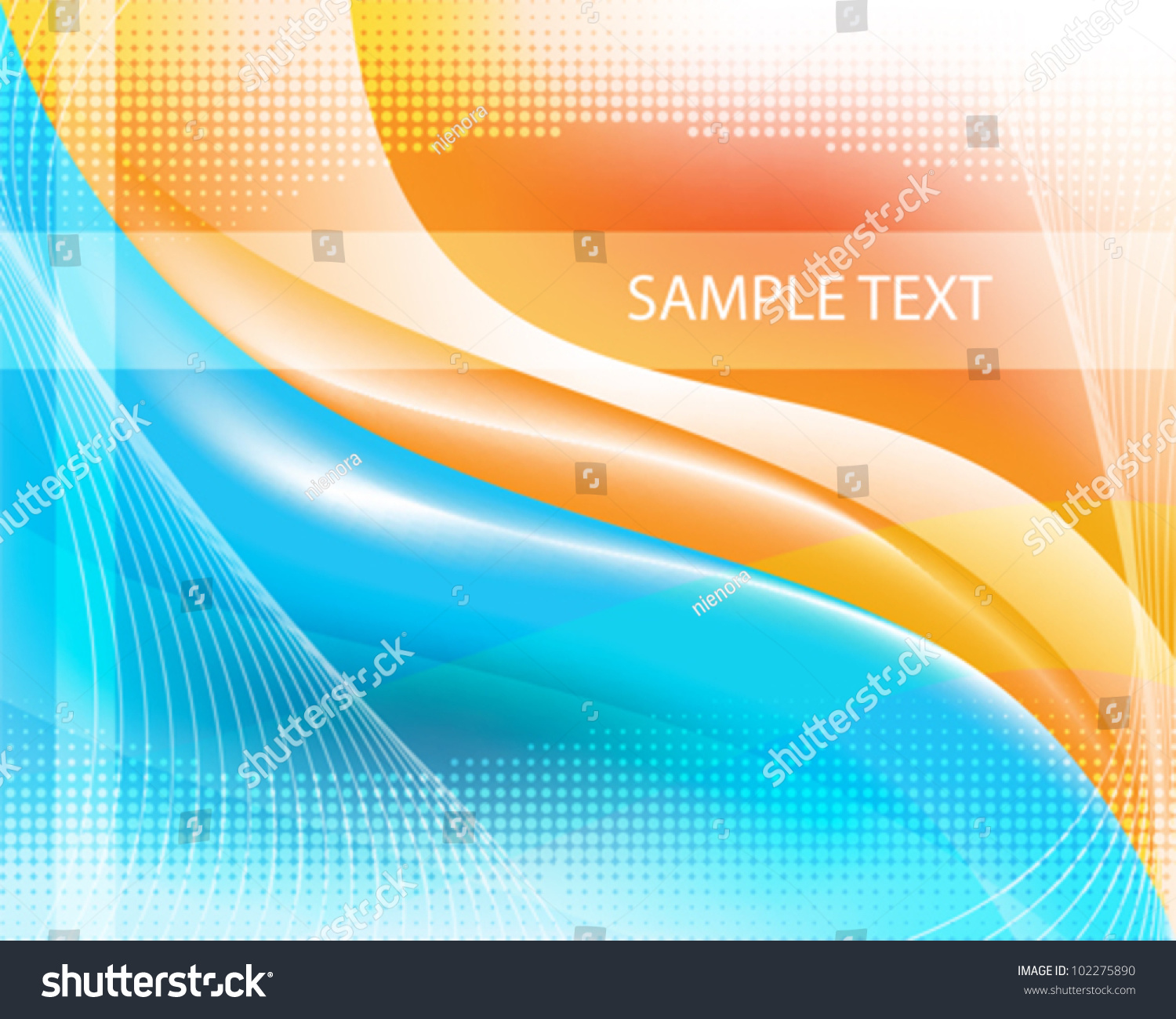 Blue and Orange Abstract Background — Stock Vector ... |Orange And Blue Vector Background