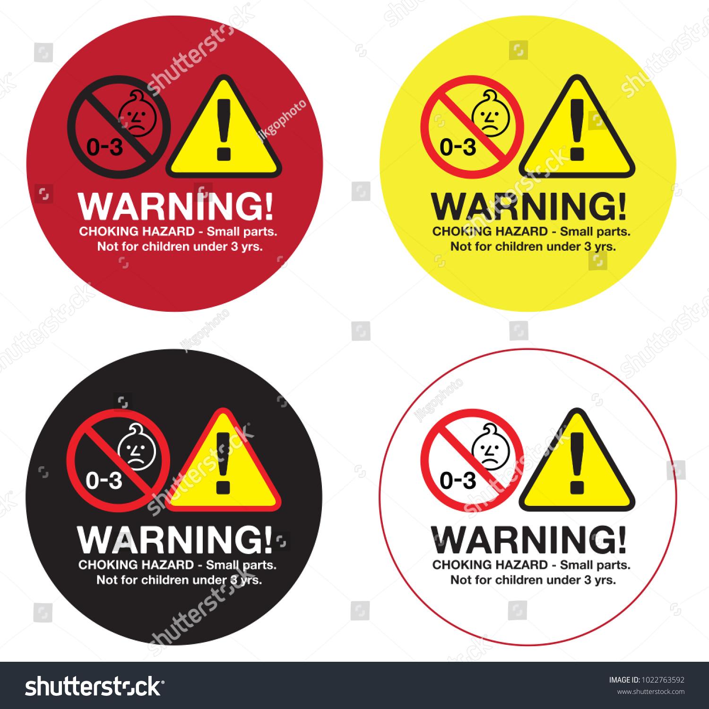 Finest Sticker Label Warning Choking Hazard Small Stock Vector 1022763592  YE56