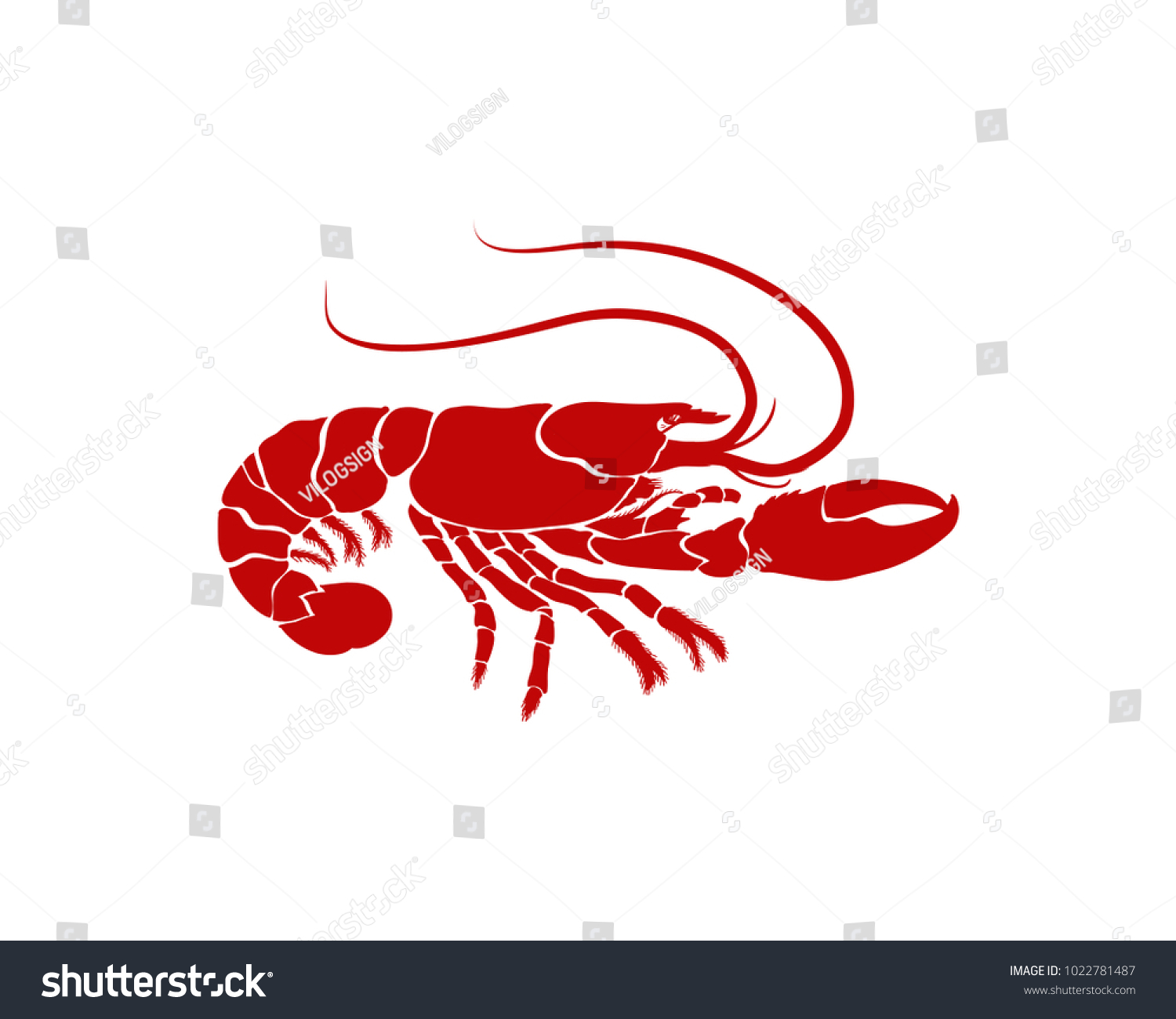 Cooking Seafood Red Lobster Restaurant Illustration Stock Vector Hd