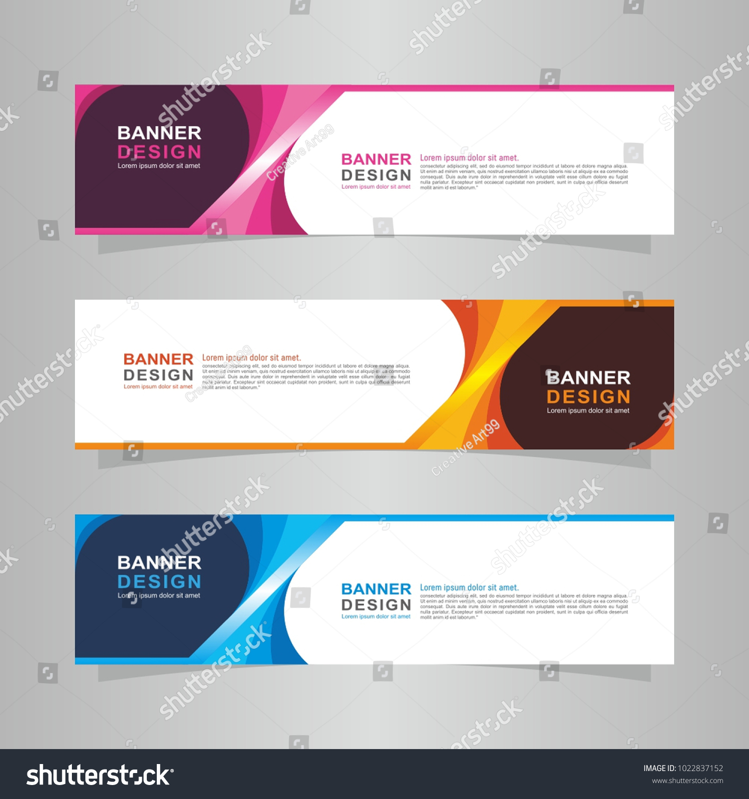 vector abstract design banner website template web design elements
