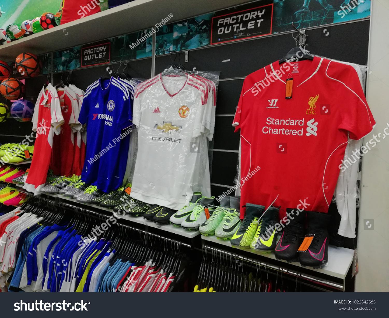 98c7ddcee Bangi, Malaysia - February 12, 2018 : English Premier League football club  jerseys like.