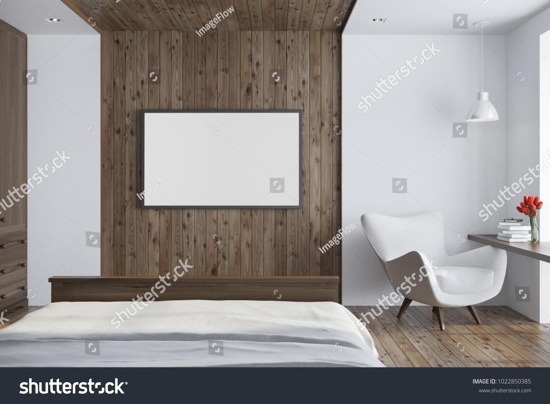 White Wooden Living Room Interior Wooden Stock Illustration ...