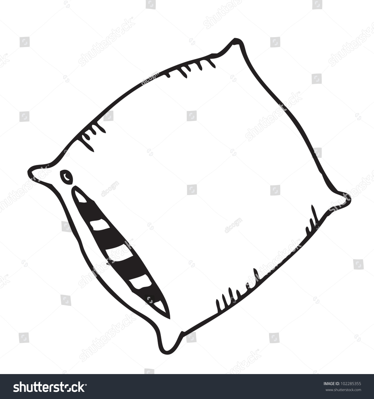 Pillow Cartoon Doodle Stock Photo (Photo, Vector, Illustration ... for Pillow Cartoon Black And White  557ylc