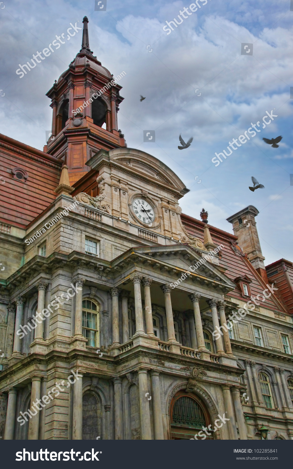 Ornate Detail Of An Old Building In Montreal Stock Photo ...