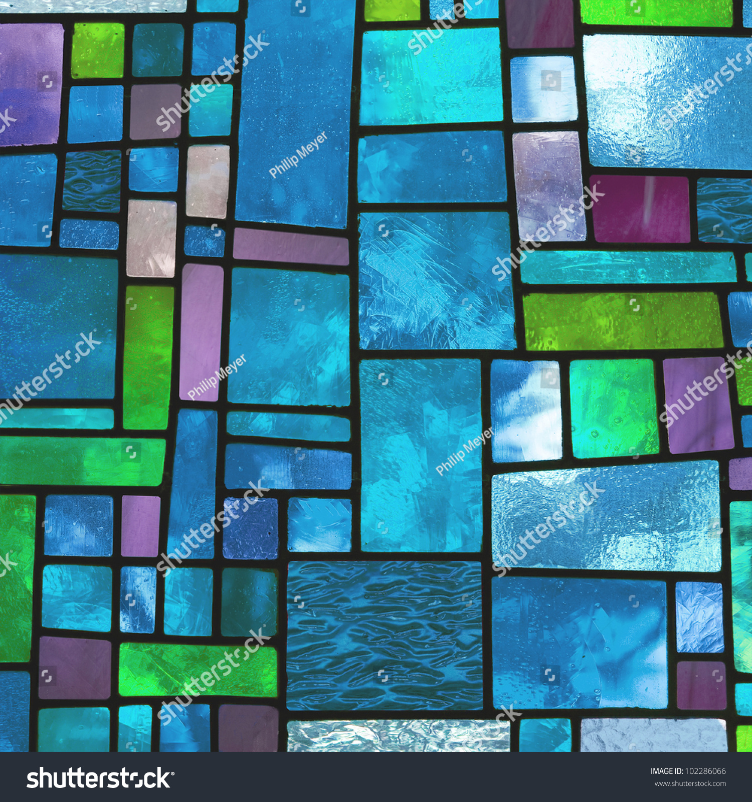 Image Multicolored Stained Glass Window Irregular Stock