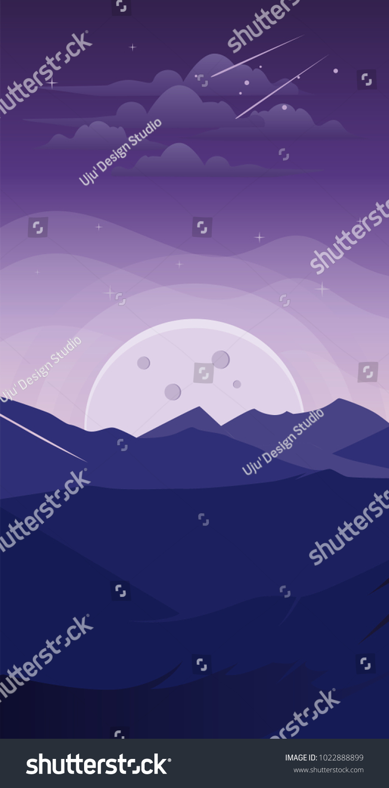 Cool Wallpaper Mountain Smartphone - stock-vector-landscape-mountain-at-night-fantasy-wallpaper-smartphone-background-android-iphone-1022888899  Picture_331129.jpg