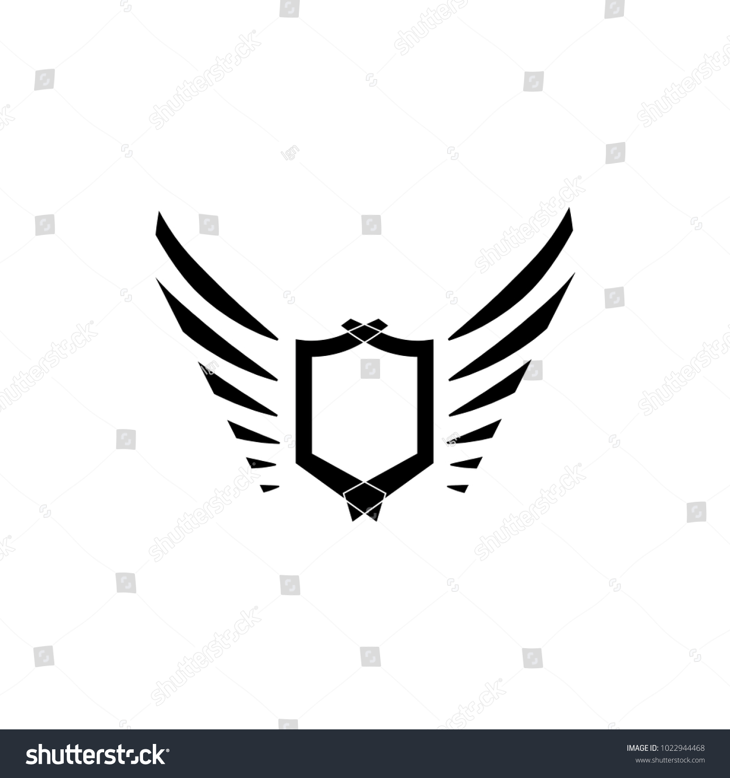 Wings Logo Vector Icon Sign Graphic Illustration Symbol Eagle Wing Diagram Of Bald Id 1022944468