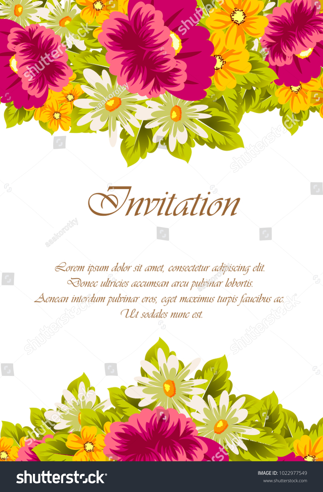 Frame Flowers Card Designs Greeting Cards Stock Vector 2018