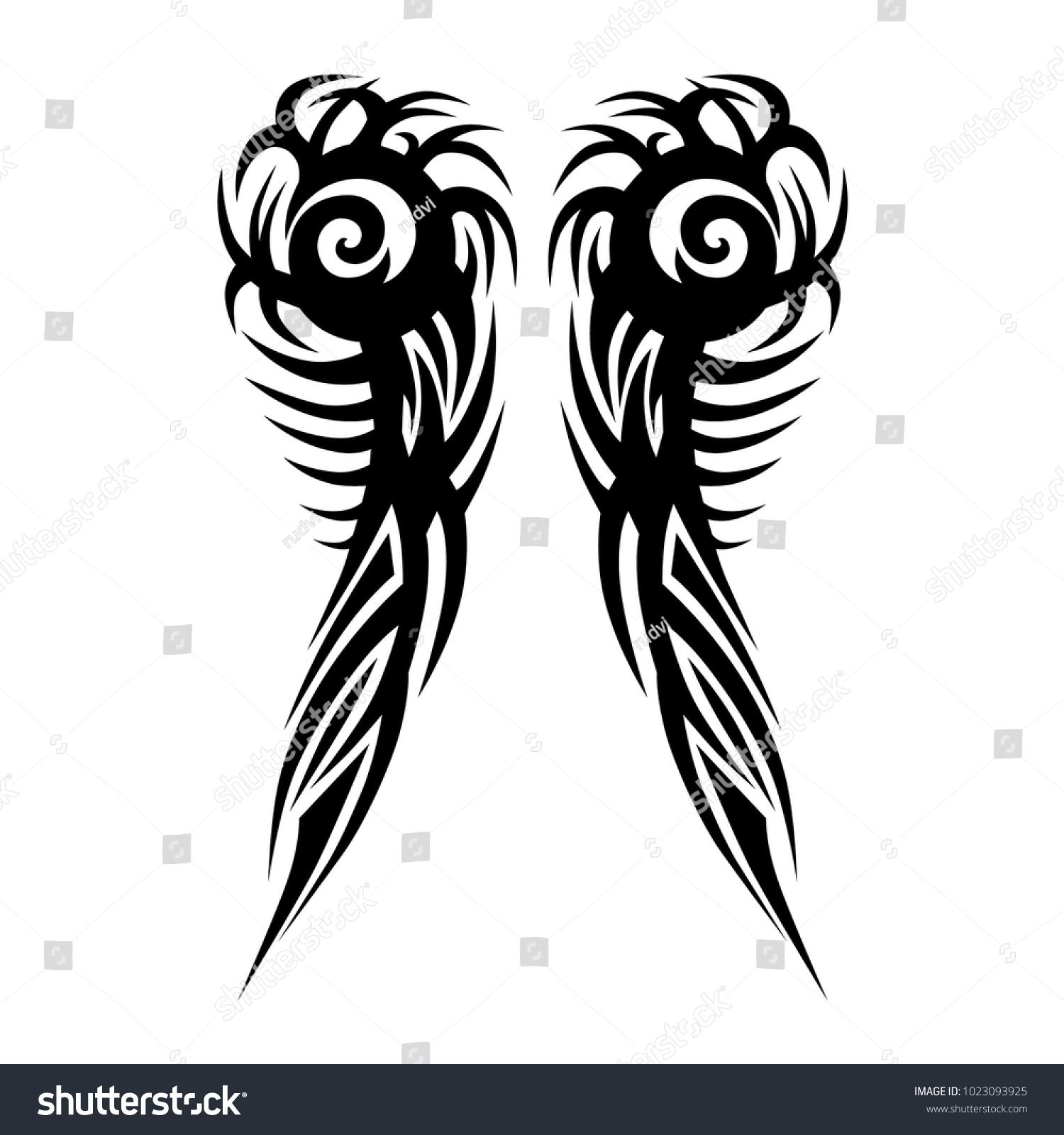 Tattoos Art Ideas Sleeve Designs Tribal Stock Vector Royalty Free