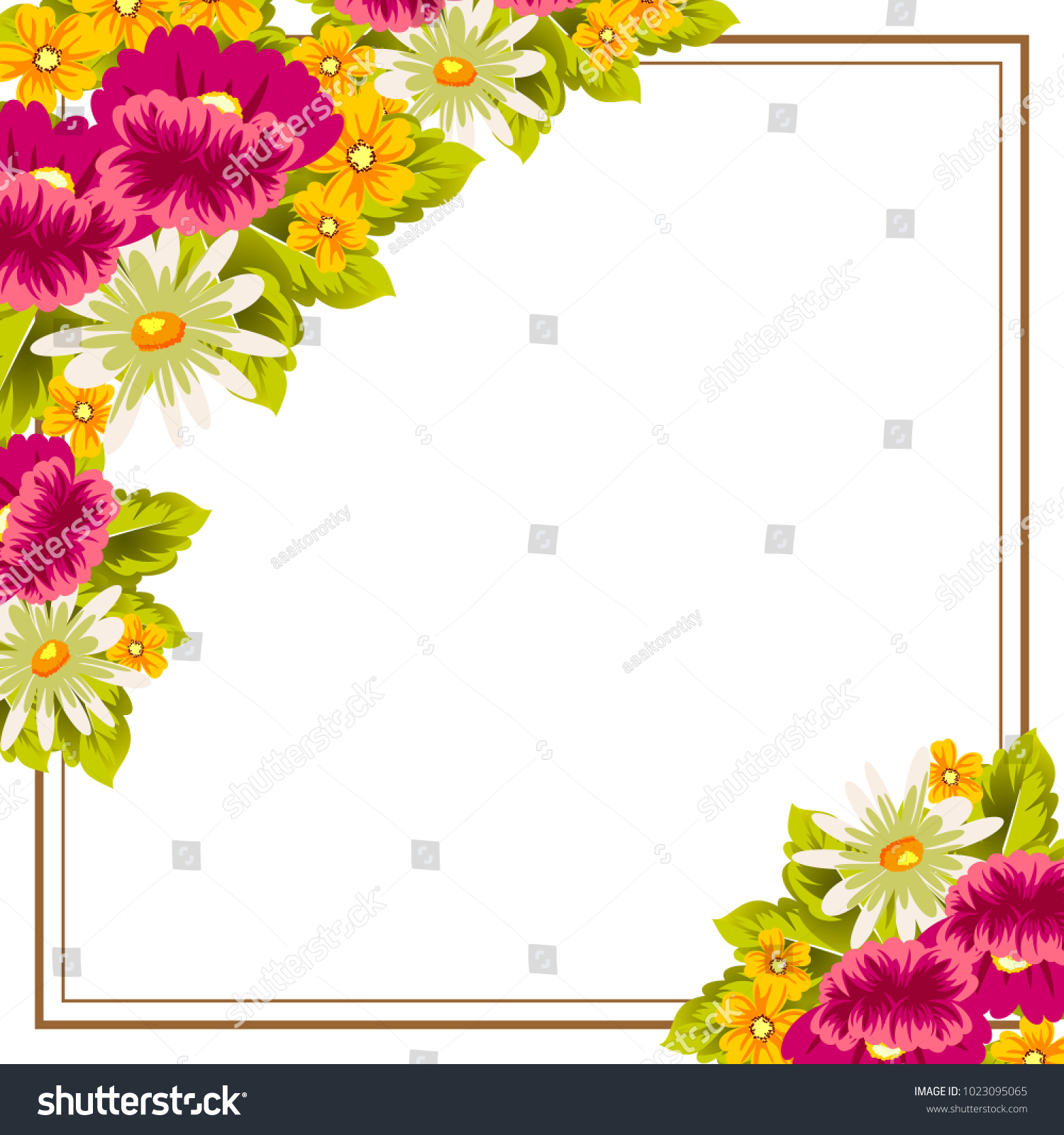 Frame Flowers Card Designs Greeting Cards Stock Vector Royalty Free
