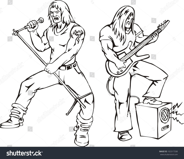 Heavy Metal Rock Singers Vector Stock Vector Shutterstock