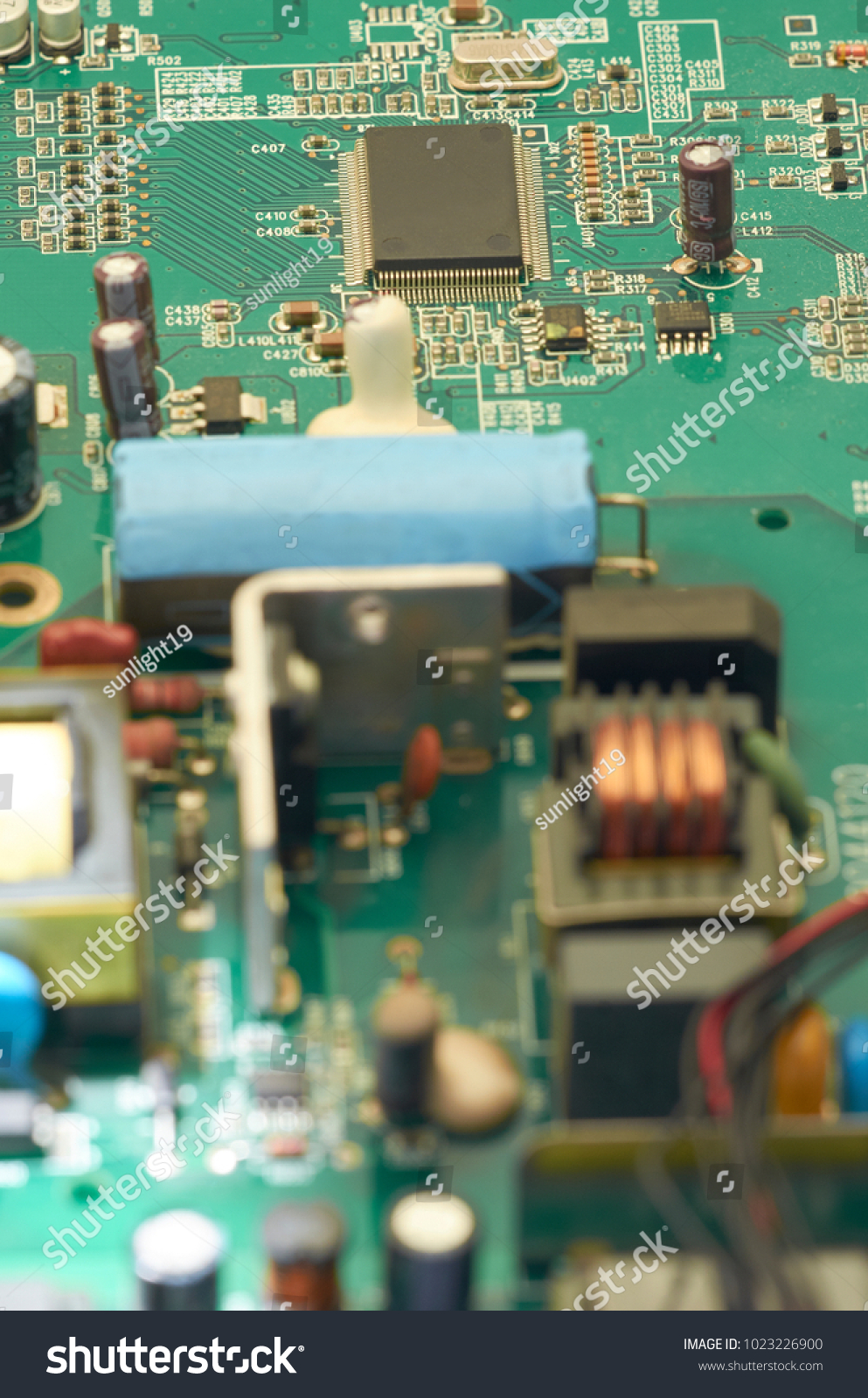 Electronic Circuit Board Pcb Printed Stock Photo Edit Now Photos Images Pictures Shutterstock With Processor Microchips And Glowing