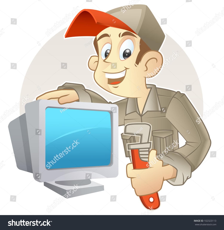 Showing post & media for Telephone technician cartoon | www ...