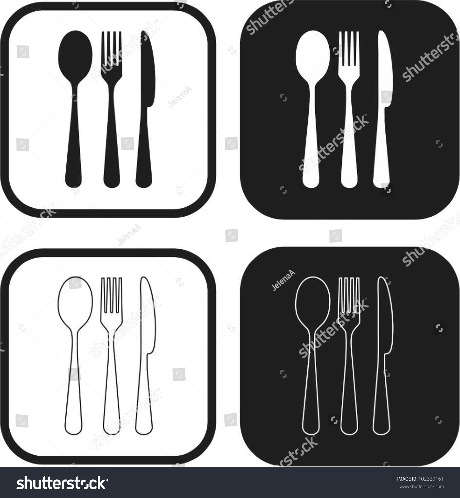 Kitchen set vector 102329161 shutterstock for Kitchen set vector