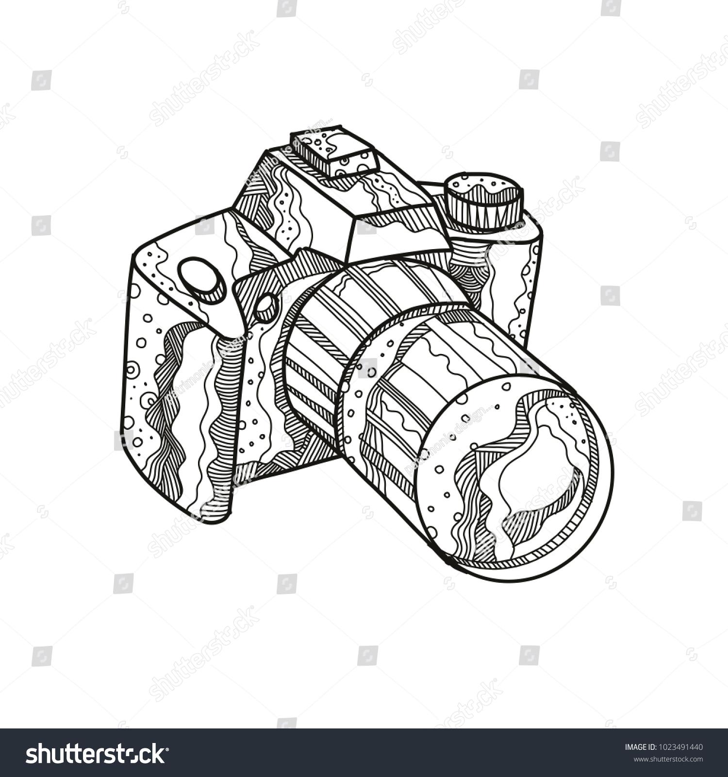 Camera Vintage By Hand Drawing Ez Canvas Diagram Of A Dslr Digital Block