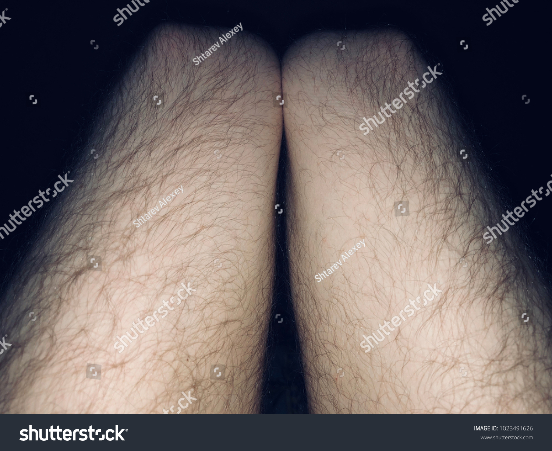Black hairy legs