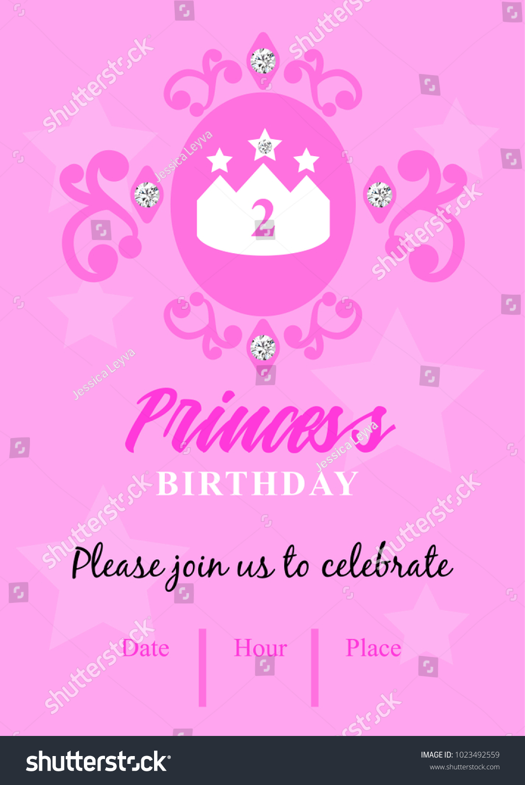 Second Birthday Party Invitation Princess