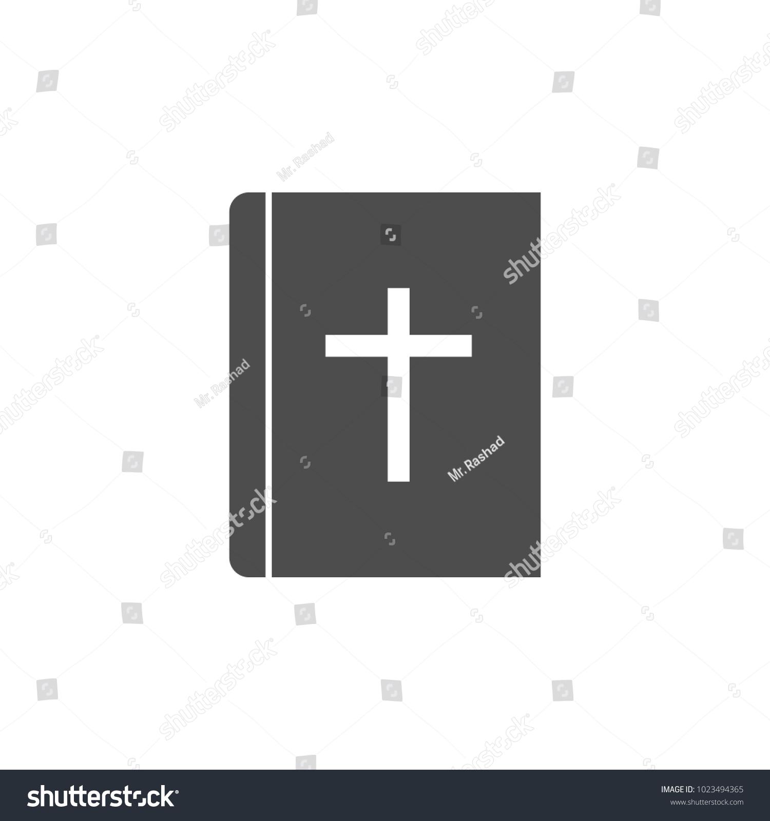 Bible Icon Elements Web Icon Premium Stock Vector Royalty Free