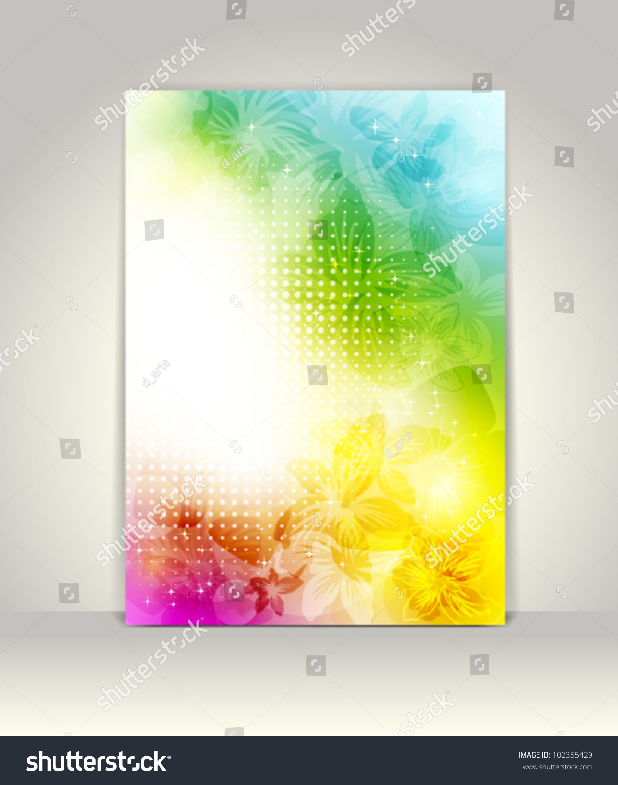 colorful brochure design - business brochure template flower colorful design stock