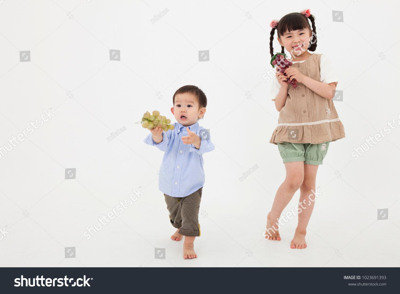 Japanese teen boy having fun