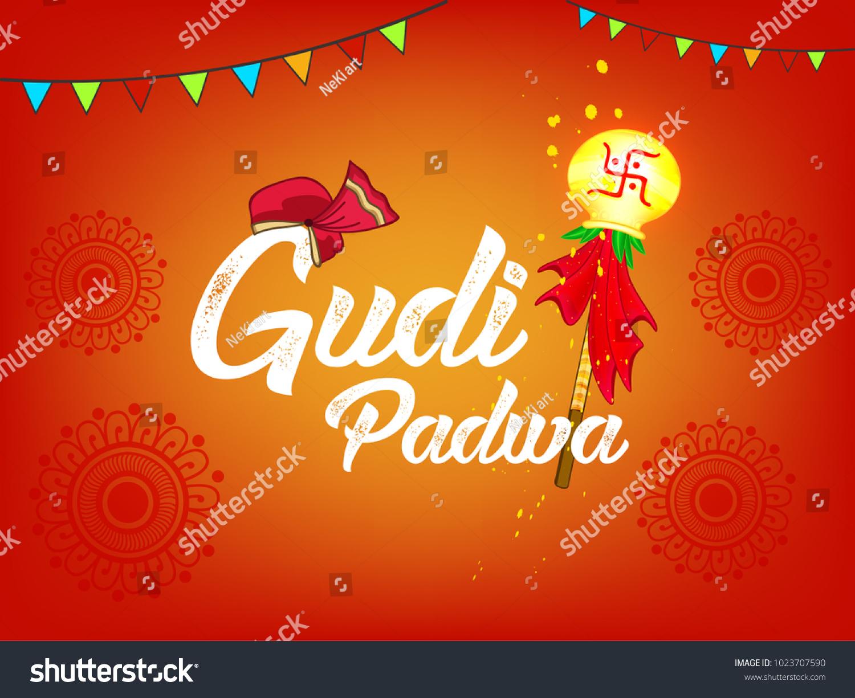 Happy gudi padwa marathi new year stock vector 1023707590 shutterstock happy gudi padwa marathi new year lunar new year festival editable vector kristyandbryce Gallery